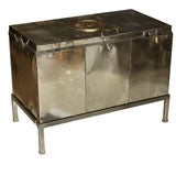 Polished Steel Campaign Travel Trunk