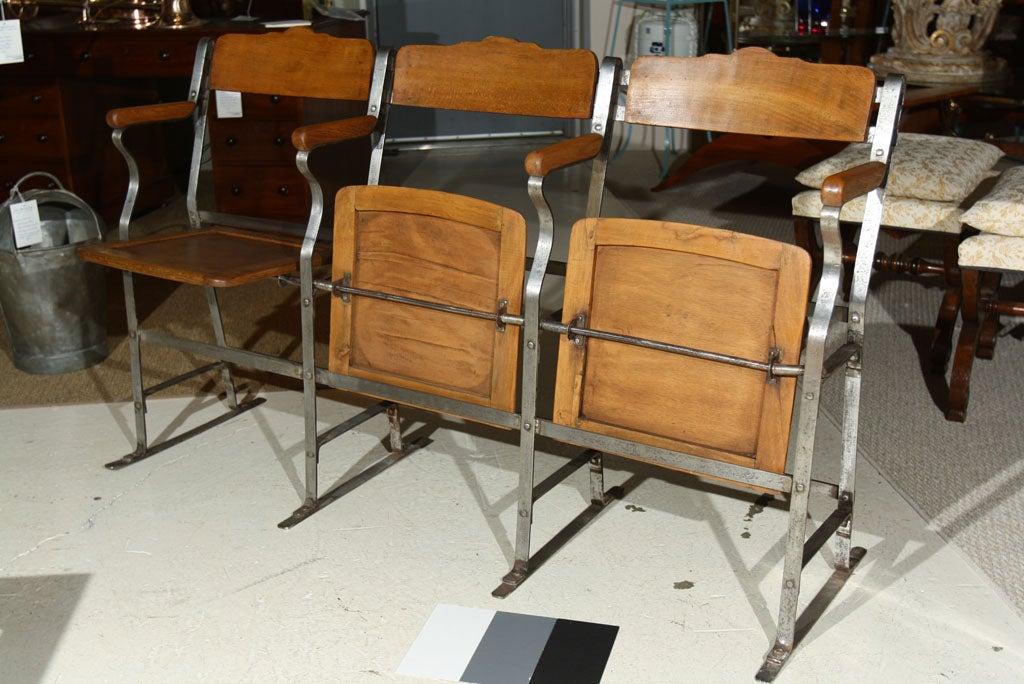 Astounding 3 Seat Fold Up And Down Bench Theater Seat Creativecarmelina Interior Chair Design Creativecarmelinacom