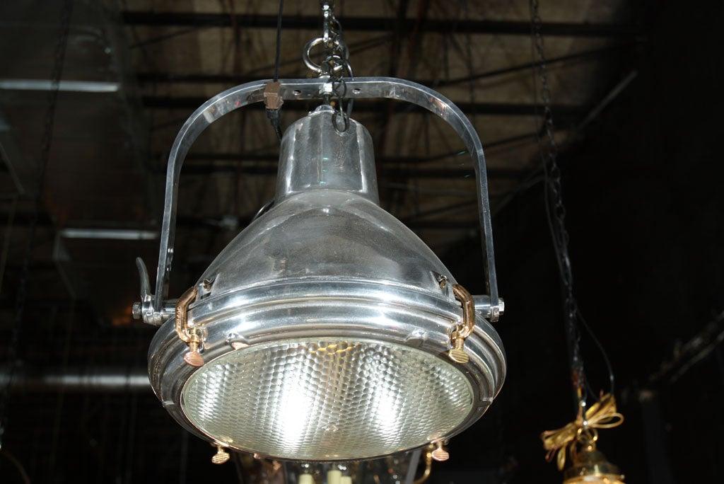 large nautical industrial light at 1stdibs. Black Bedroom Furniture Sets. Home Design Ideas