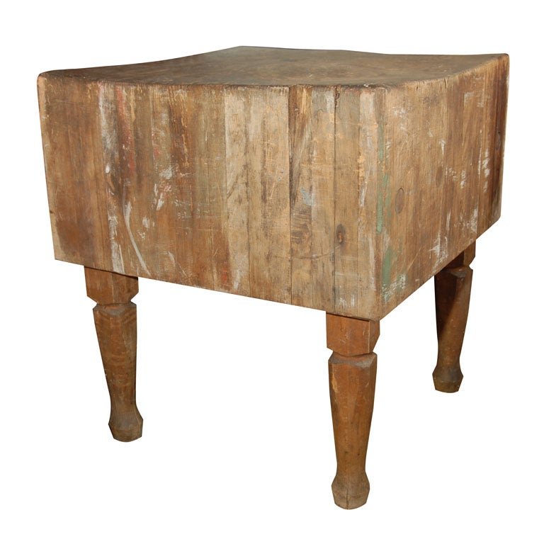 antique butcher block at 1stdibs