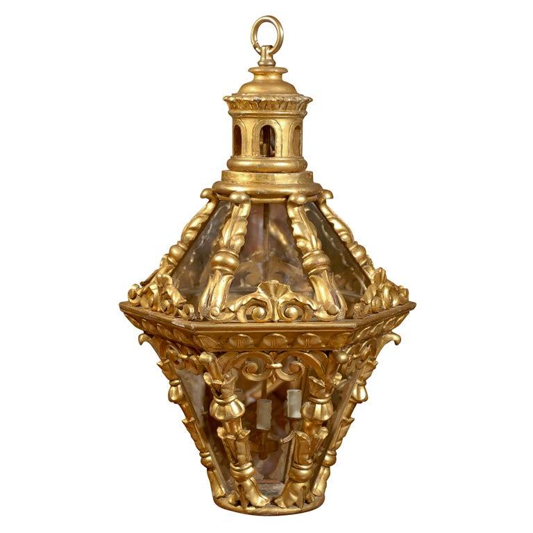 Early 19th Century Italian Gilded Lantern
