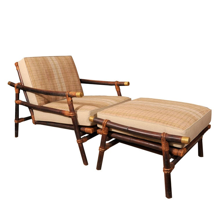 Ficks Reed Chair and Ottoman at 1stdibs