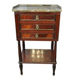 Louis XVI Marble Top Mahogany Side Table