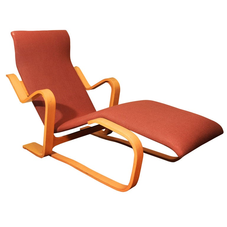 Chaise longue by marcel breuer at 1stdibs for Chaise wassily