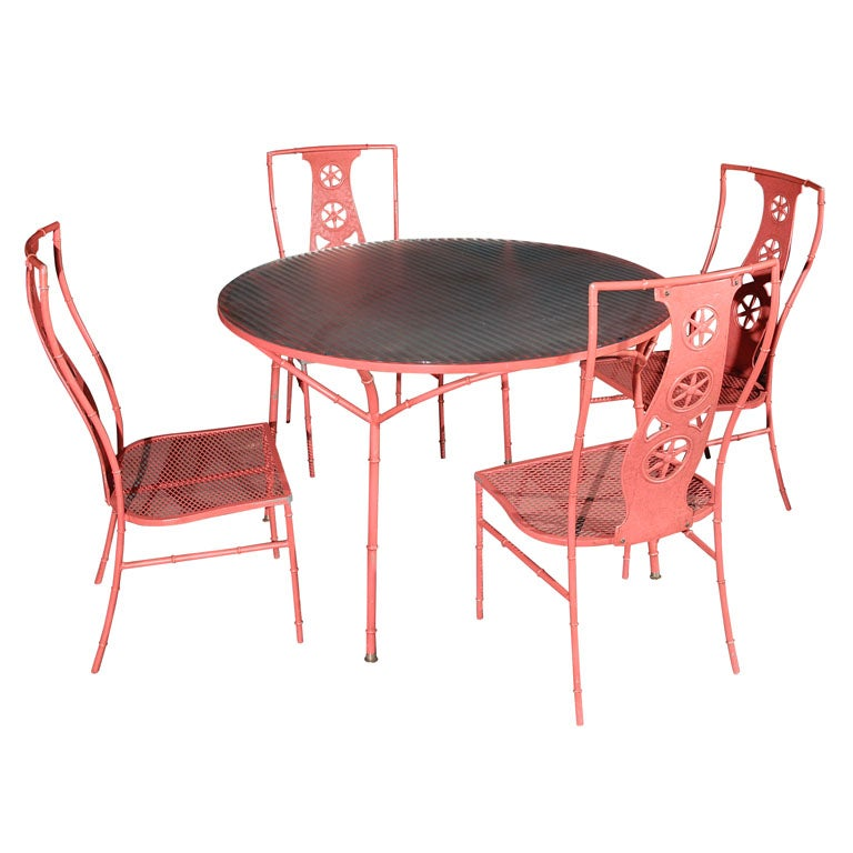 Salterini 39 Montego 39 Table And Four Chairs At 1stdibs