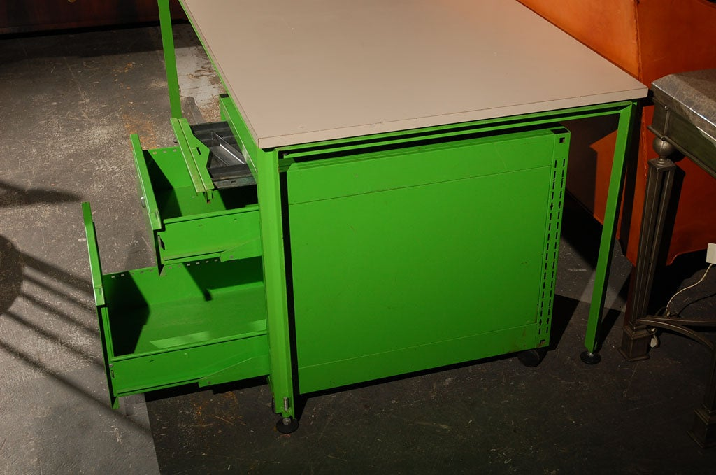 Michel Cadestin and Georges Laurent Desk and Filing Cabinet For Sale 2