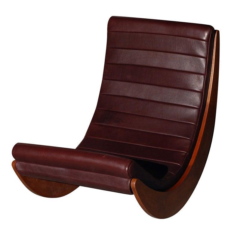 verner panton rocking chair relaxer at 1stdibs. Black Bedroom Furniture Sets. Home Design Ideas