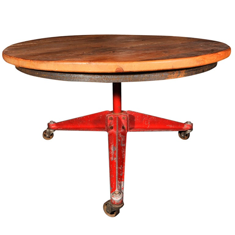Industrial table after jean prouve at 1stdibs for Table quiz hannover