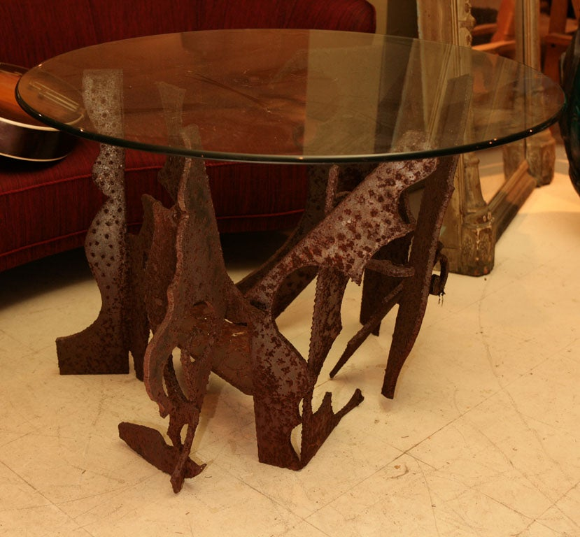 American Brutalist Centre Table For Sale