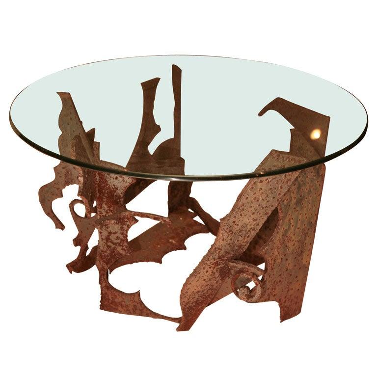 Brutalist Centre Table For Sale