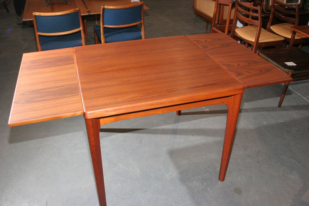 danish modern square teak captop dining table at 1stdibs