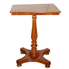 Rare English Satinwood Tilt-Top Table