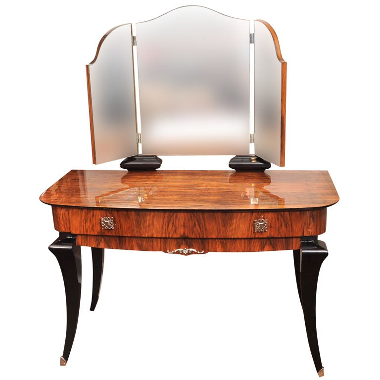french art deco dressing table at 1stdibs. Black Bedroom Furniture Sets. Home Design Ideas