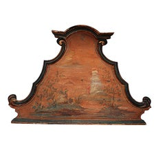 18th Century Italian Venetian Chinese Style Painted Headboard