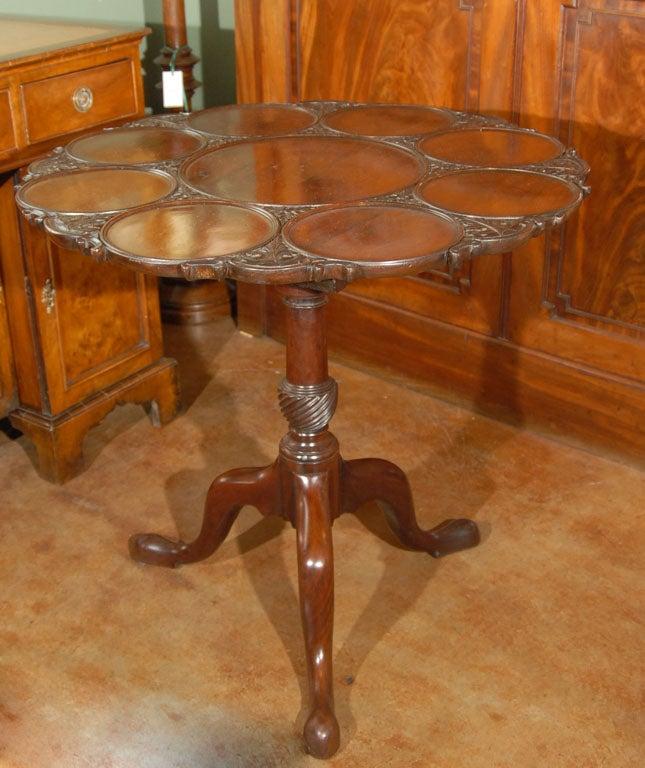 English Tilt Top Supper Table Of Mahogany At 1stdibs