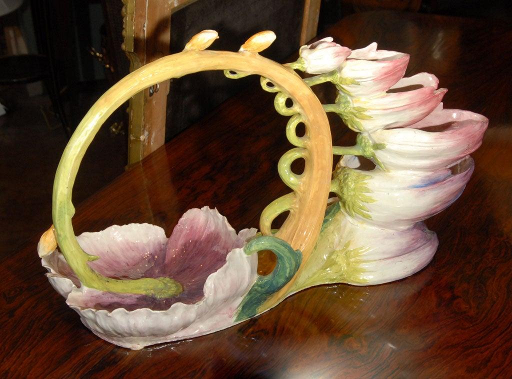 Italian Coupe Naturaliste Art Pottery Centerpiece 2