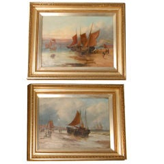 A Pair of English Oil Paintings of Ships by George D. Callow
