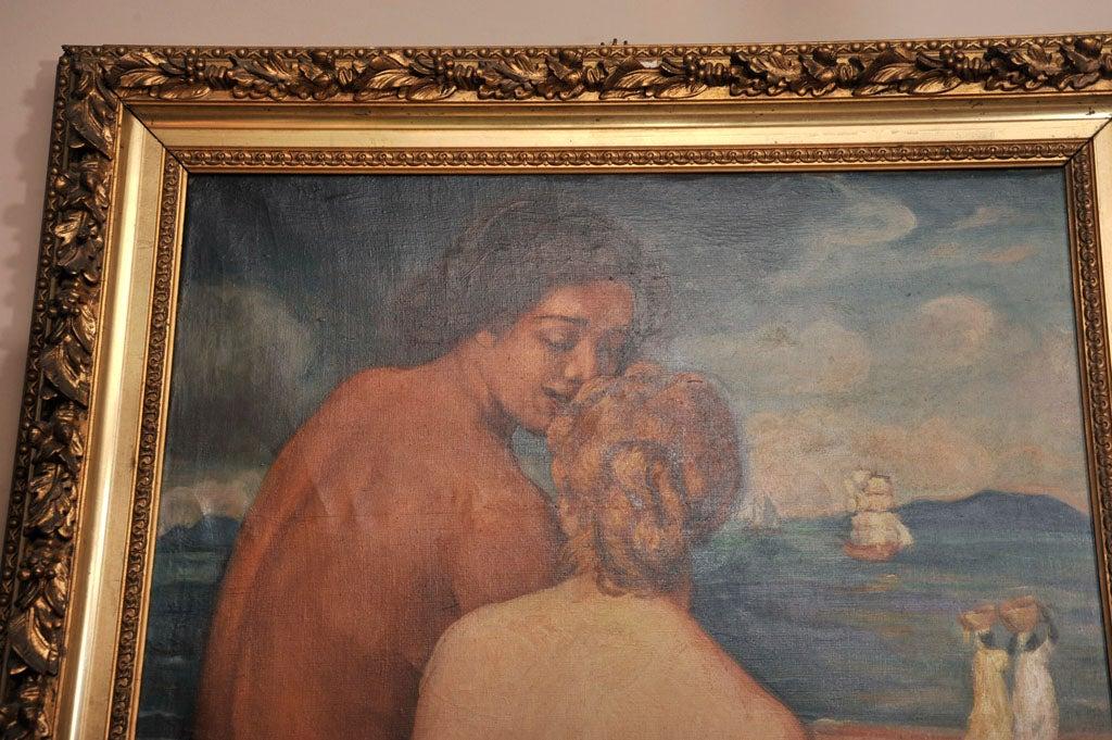 emile bernard post impressionist oil on canvas nus de