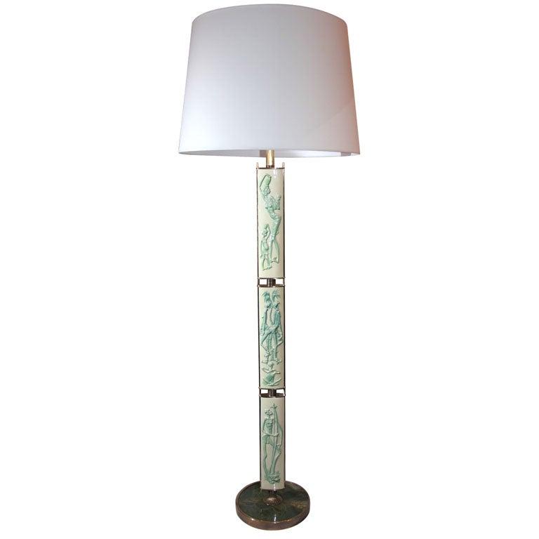 Italian Art Moderne Floor Lamp