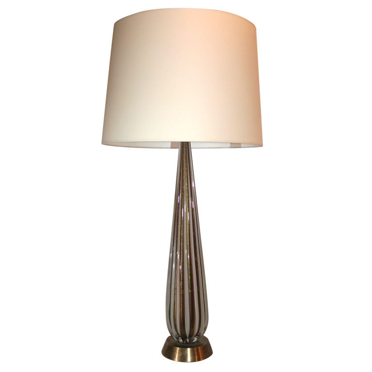 Italian Art Glass Table Lamp by Seguso
