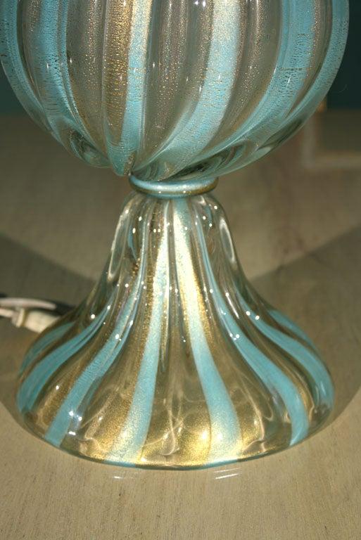 Mid-20th Century Tall Venetian Murano Glass Lamp For Sale