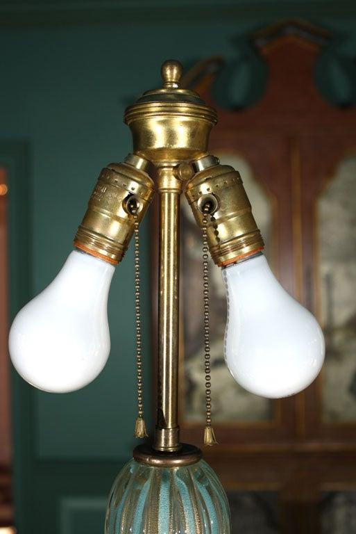 Tall Venetian Murano Glass Lamp For Sale 1