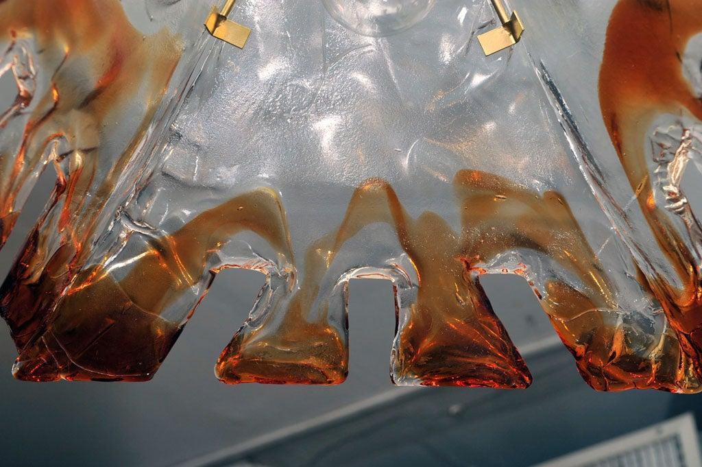 Mazzega Sculptural Pendant Light Fixture At 1stdibs