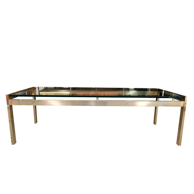 Light Gold Anodized Aluminum Coffee Table At 1stdibs