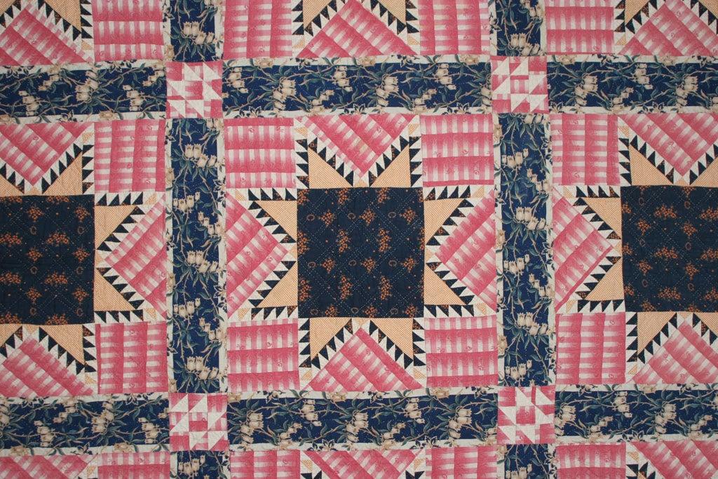 19th Century Antique Pieced Quilt: