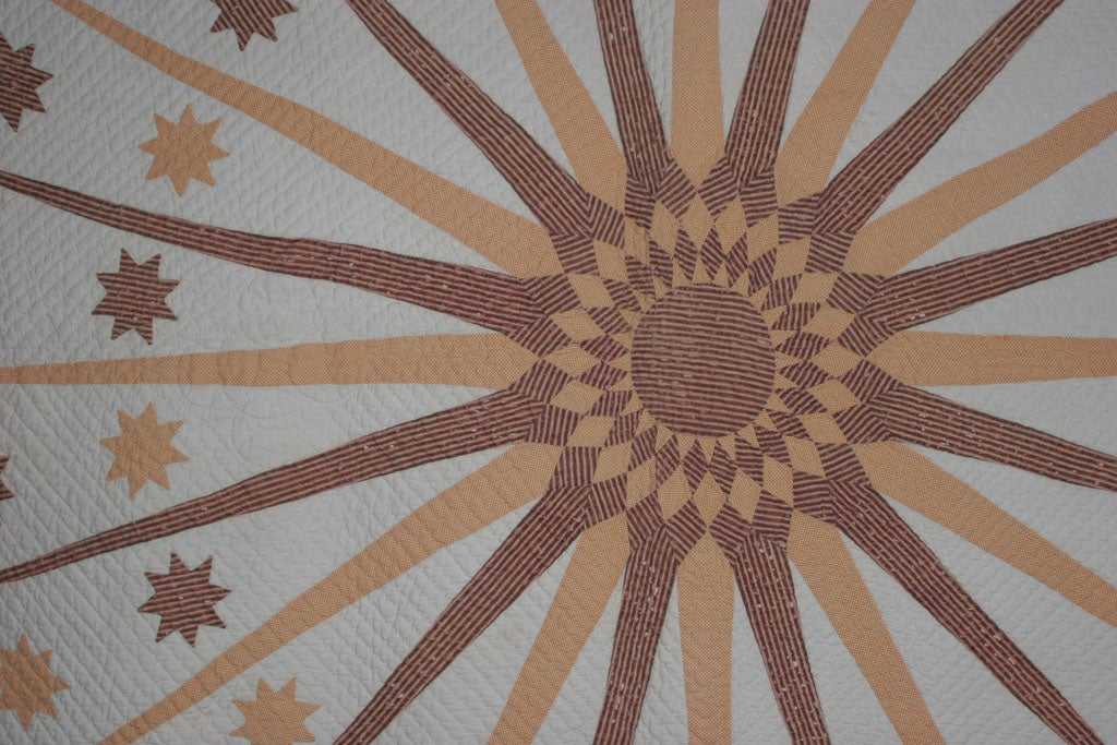 Antique Quilt:  Sun, Moon and Stars. For Sale 1