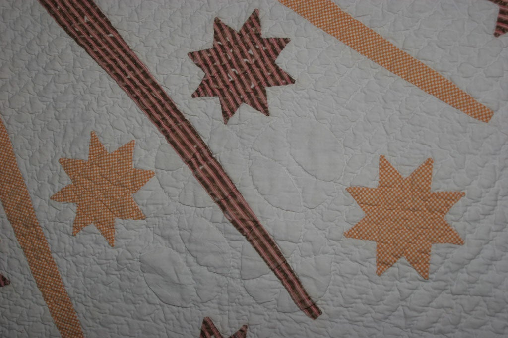 Antique Quilt:  Sun, Moon and Stars. For Sale 5