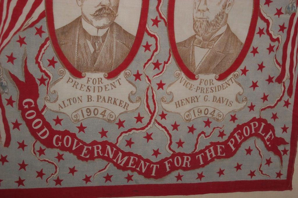 American Campaign Bandanna:  Parker/Davis  1904. For Sale