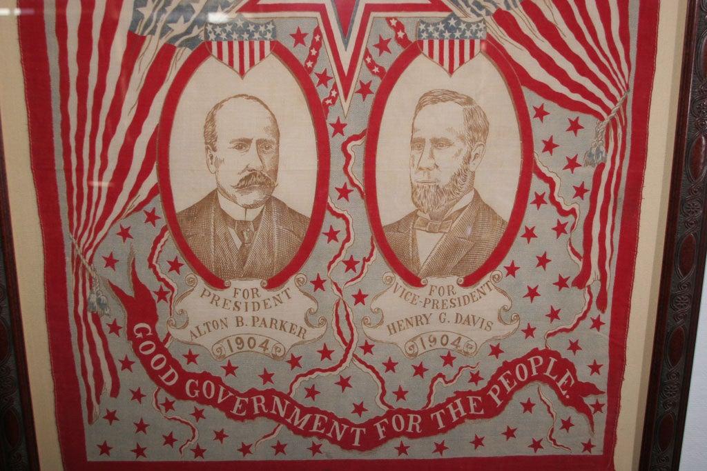 Campaign Bandanna:  Parker/Davis  1904. For Sale 1