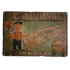 Tin Trade Sign:  LE JOURNAL - EN VENTE ICI