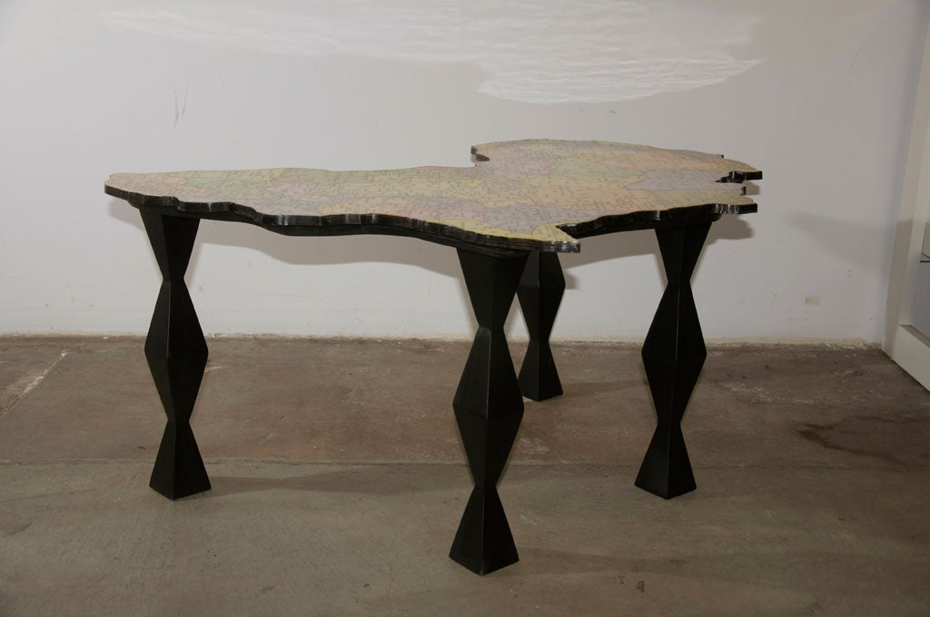 Map Of Africa Coffee Table By Doug Edge At 1stdibs