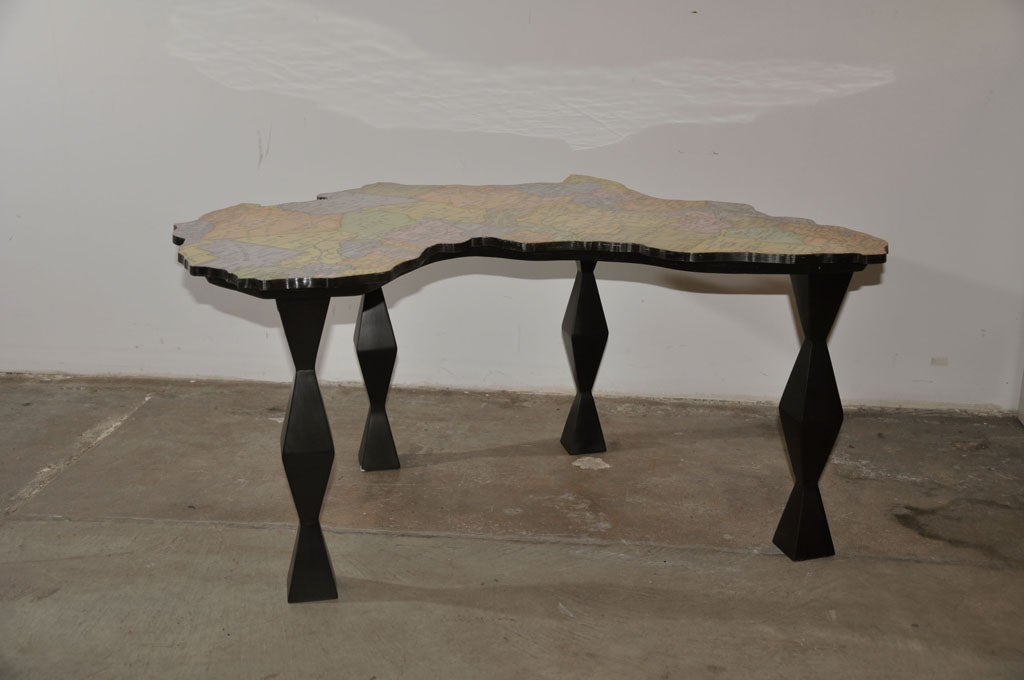 A map of africa coffee table by doug edge at 1stdibs African coffee tables