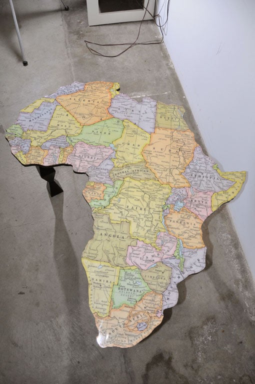 A Map Of Africa Coffee Table By Doug Edge At 1stdibs