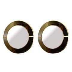 pair of circular mirrors