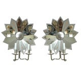 Pair of Mirrored Star Sconces thumbnail 1