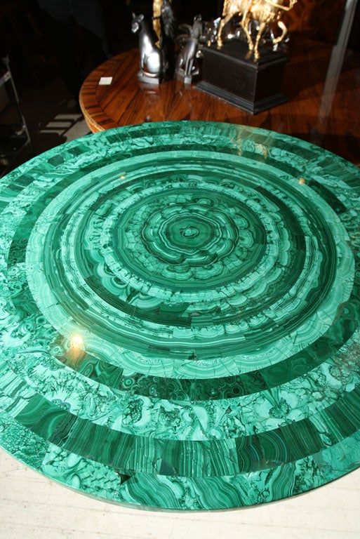 Bronze BRONZE TABLE  BASE//MALACHITE TABLE TOP (TOP SOLD)