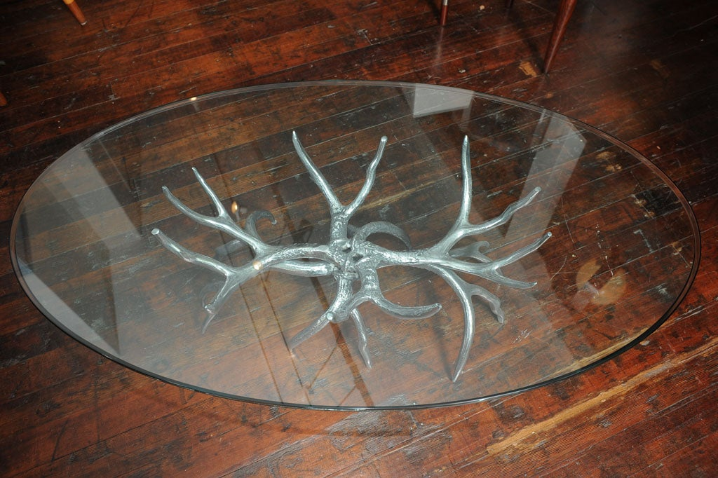 arthur court antler coffee table at 1stdibs