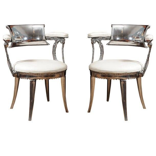 Beautiful Pair Of Dorothy Draper Chairs 1
