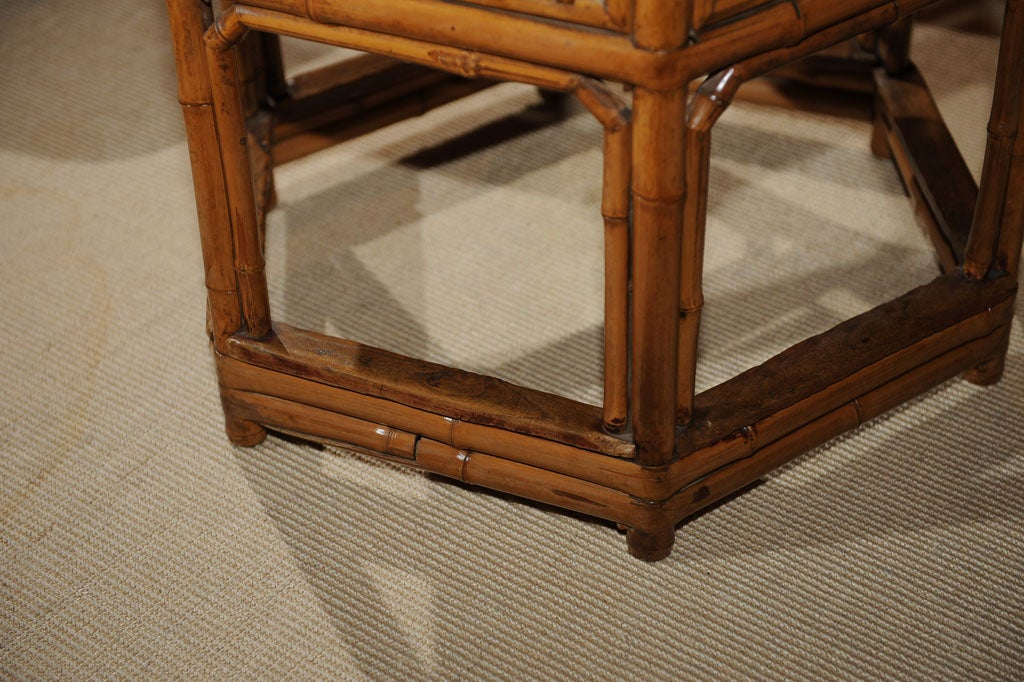 Chinese Round Bamboo Coffee Table At 1stdibs