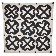 "African American Improvisational ""Cross T"" Temperance Quilt"