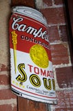 Early Campbell's Tomato Soup Curved Porcelain Advertising Sign image 2