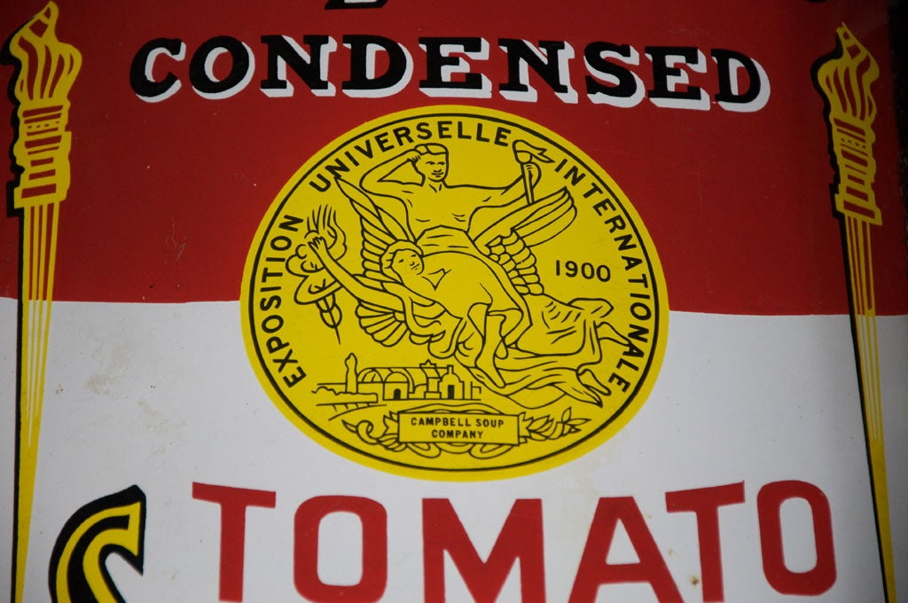 Early Campbell's Tomato Soup Curved Porcelain Advertising Sign 4