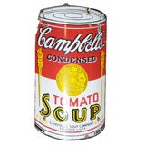 Early Campbell's Tomato Soup Curved Porcelain Advertising Sign