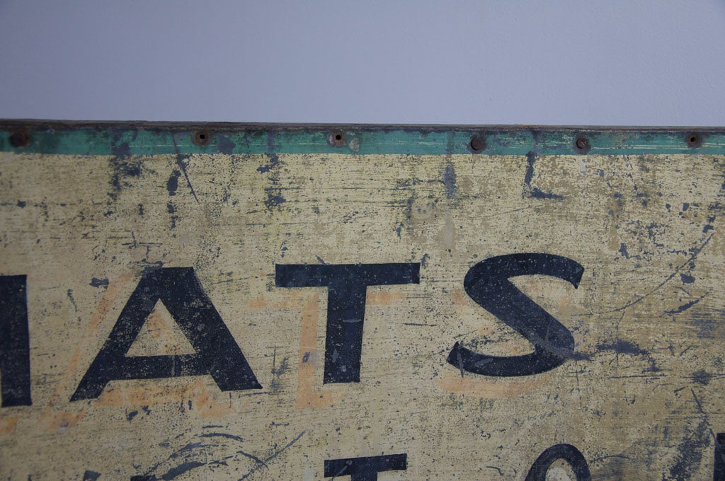 C 1920 S American Millinery And Hatter Sign At 1stdibs
