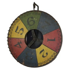 Early Colorful Carnival Game Wheel