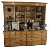 Large 19th C English Pine Step-Back Cupboard